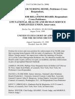 Schnurmacher Nursing Home, Petitioner-Cross-Respondent v. National Labor Relations Board, Respondent-Cross-Petitioner, 1199 National Health and Human Service Employees Union, Intervenor, 214 F.3d 260, 2d Cir. (2000)
