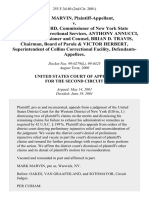 Mark Marvin v. Glenn Goord, Commissioner of New York State Department of Correctional Services, Anthony Annucci, Deputy Commissioner and Counsel, Brian D. Travis, Chairman, Board of Parole & Victor Herbert, Superintendent of Collins Correctional Facility, 255 F.3d 40, 2d Cir. (2001)
