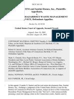Evandro S. Santini and Santini Homes, Inc. v. Connecticut Hazardous Waste Management Service, 342 F.3d 118, 2d Cir. (2003)