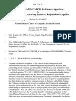 Tatyana Serafimovich v. John Ashcroft, Attorney General, 456 F.3d 81, 2d Cir. (2006)