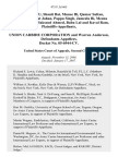 Janki Bai Sahu, Shanti Bai, Munee Bi, Qamar Sultan, Firdaus Bi, Nusrat Jahan, Pappu Singh, Jameela Bi, Meenu Rawat, Bano Bi, Maksood Ahmed, Babu Lal and Kaval Ram v. Union Carbide Corporation and Warren Anderson, Docket No. 05-6944-Cv, 475 F.3d 465, 2d Cir. (2007)