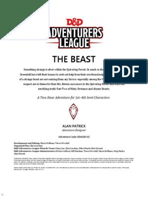 DDAL04-02_The_Beast_(5e)_(8764694) | Dungeons & Dragons | Magic