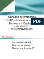 Conjunto de protocolos TCP/IP y direccionamiento IP