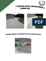 Pcc Raod Construction Taining Manual for Cbos