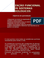 Biologia PPT - Organização Funcional dos Sistemas Biológicos