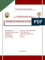 Informe Internado Obstetricia Huancavelica
