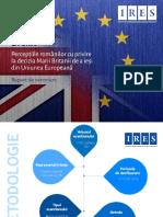 IRES Perceptii Si Reprezentari Brexit Raport de Cercetare Grafic