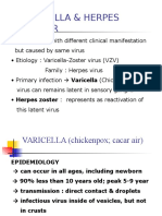 Varicella & Herpes Zoster