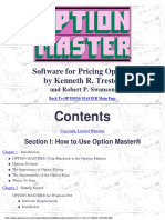 Option Master Manual