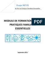 Guide de Formation sur les paratiques familiales essentielles