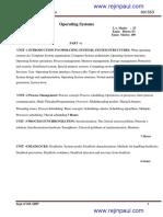 Cse v Operating Systems [10cs53] Notes (1)