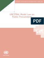 2011 Model Law on Public Procurement e