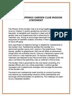 highland springs garden club mission statement