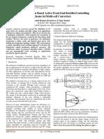 Genetic Algorithm Based Active Front End RectifierControlling Scheme forMulti-cell Converters
