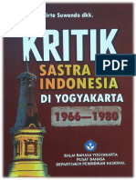 Kritik Sastra Indonesia di Yogyakarta