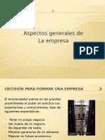 Aspecto Generales de La Empresa