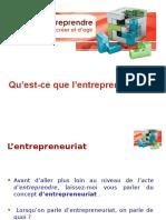L'entrepreneuriat 2013