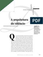 A Arquitetura Do Silêncio - Aguinaldo J. GonçAlves