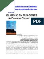El Genio en Tus Genes de Dawson Church