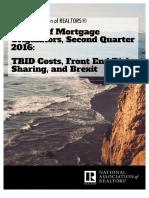 Survey of Mortgage Originators, Second Quarter 2016