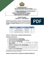 CDO 038 COCHABAMBA Inst Tec Nacional de Comercio Federico Alvarez Plata Nocturno
