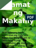 ALAMAT NG MAKAHIYA