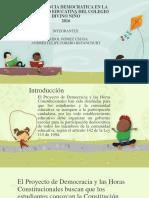 La Conciencia Democrática COLEGIO DIVINO NIÑO