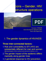 Intersections - Gender, HIV and Infrastructure Operations