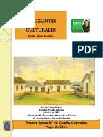 Horizontes Culturales 40 2016