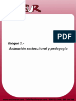 Bloque 1 Animacion Sociocultural y Pedagogia Alumnos