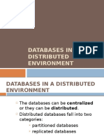 Databases in a Distributed Environment