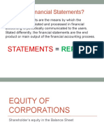 Equity of Corporations