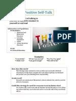 positive self talk fact sheet 2