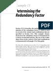 Determining the Redundancy Factor