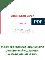 Econometria201401 Aula09 ARLM VI Dummy