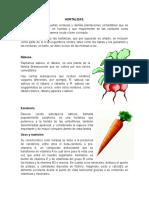 Hortalizas, arboles Frutales y Plantas medicinales