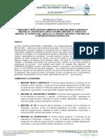 Convocatoria de Suministros de Insumos Medico Quirúrgicos 2010