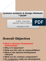 Systems Analysis and design method