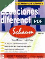 Ecuaciones Diferenciales Richard Bronson Coleccion Schaum Ccesa007