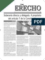 Soberanía Directa y Delegada - Autor José María Pacori Cari - La Gaceta Jurídica - La Razón Bolivia