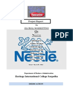 marketing project on nestle