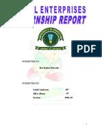 Internship Report on Tasty Sweet Corn