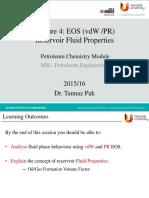 lecture 2 Reservoir fluid properties