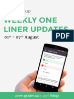 Weekly Oneliner 1st to 7th Aug 1
