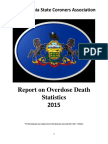 2015 DRUG REPORT Pennsylvania State Coroners Association