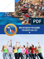 Mini-Internship Programme for Groups Malta 2016 2017