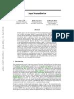 Layer Normalization