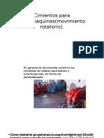 Cimientos Para Turbomaquinas(Movimiento Rotatorio)