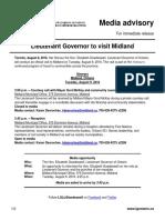 Lieutenant Governor to visit Midland