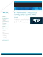 2016 07 28 the Macroeconomic Consequences of Secretary Clintons Economic Policies